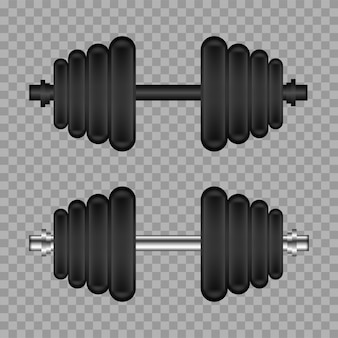 Realistic gym dumbbell.