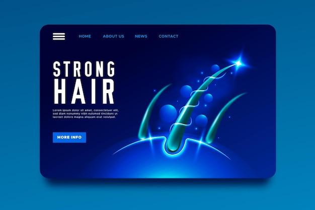 Реалистичная целевая страница лечения выпадения волос