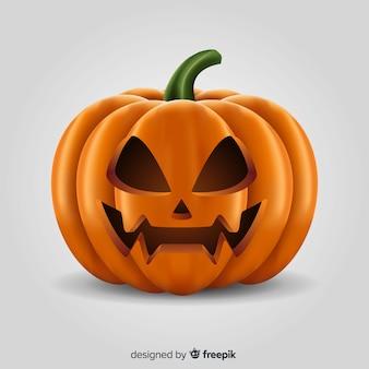 Realistic halloween angry pumpkin