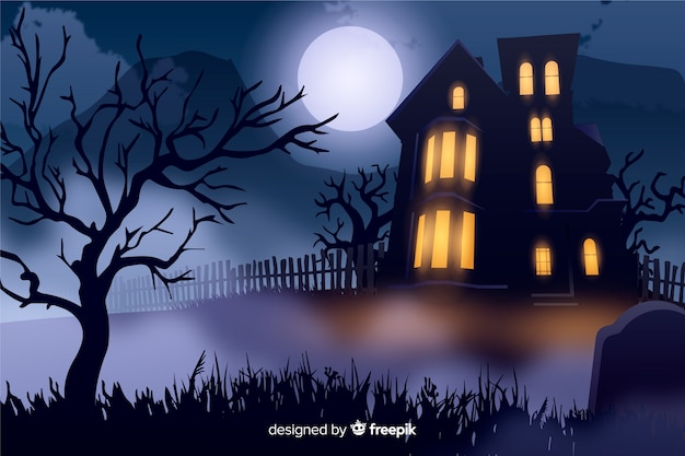 Realistic halloween background