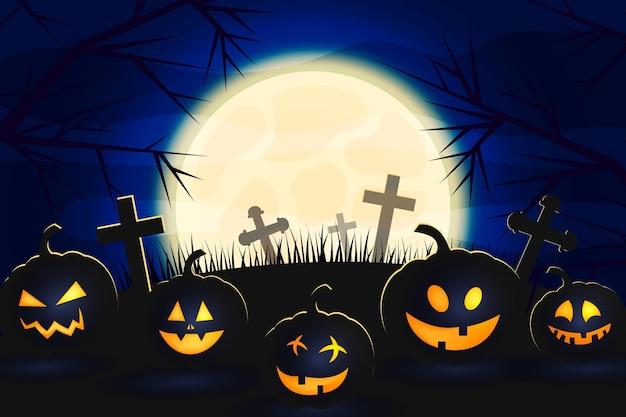Realistic halloween background