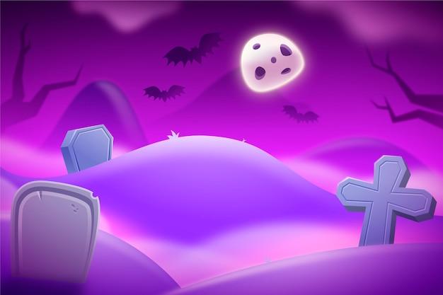 Realistic halloween background Premium Vector