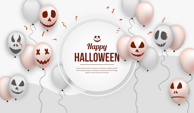 Realistic halloween balloon for party celebration