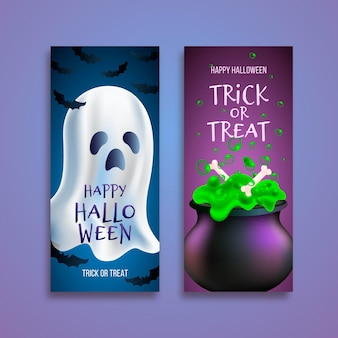 Реалистичные баннеры на хэллоуин