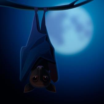 Realistic halloween bat illustration