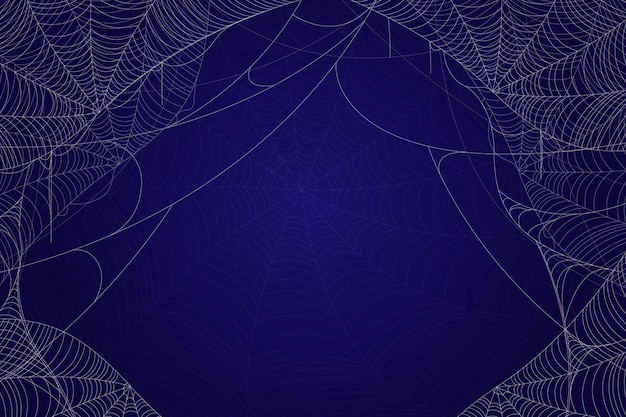 Realistic halloween cobweb background