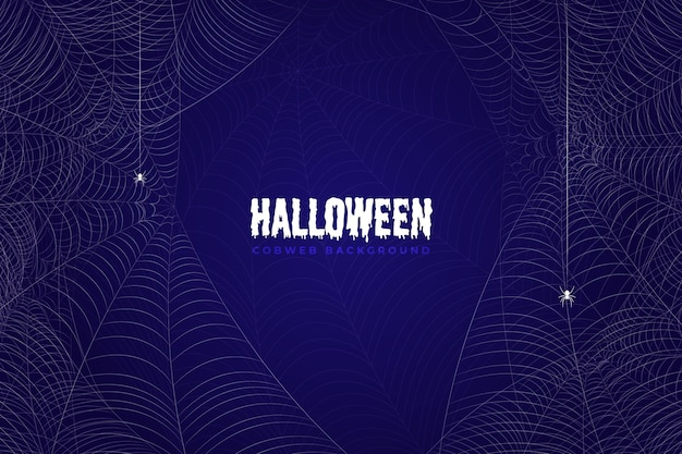Realistic halloween cobweb wallpaper