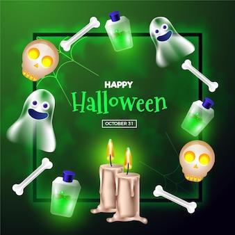 Cornice realistica di halloween