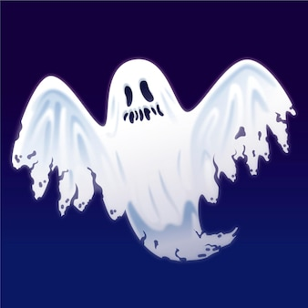 Realistic halloween ghost illustration