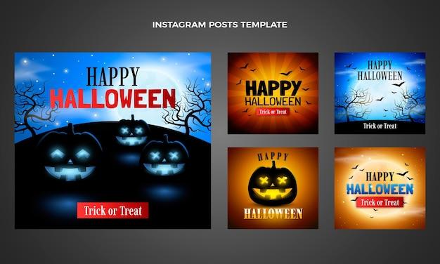 Raccolta realistica di post su instagram di halloween