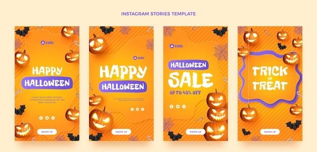 Реалистичная коллекция историй хэллоуина instagram