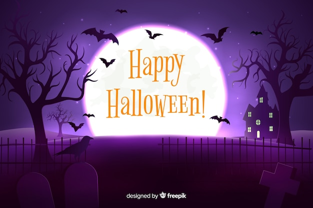 Realistic halloween nigh time background
