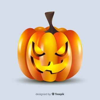 Realistic halloween pumpkin close-up