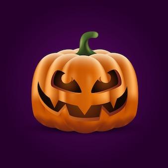 Illustrazione realistica della zucca di halloween