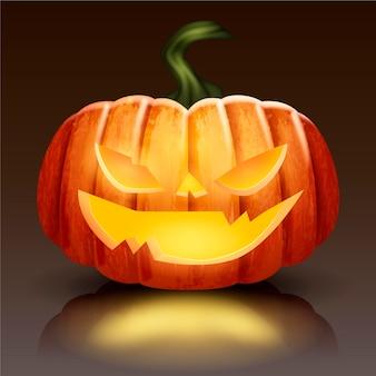 Реалистичная иллюстрация тыквы на хэллоуин