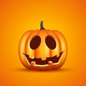 Realistic halloween pumpkin illustration