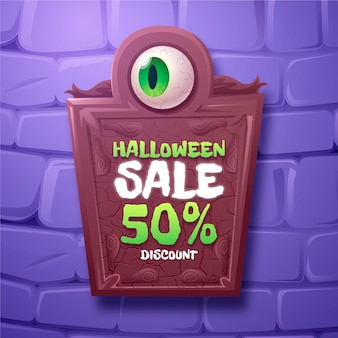 Realistic halloween sale illustration