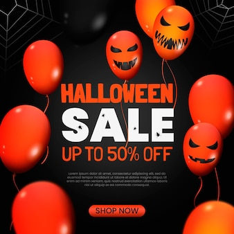 Реалистичная иллюстрация продажи хэллоуина