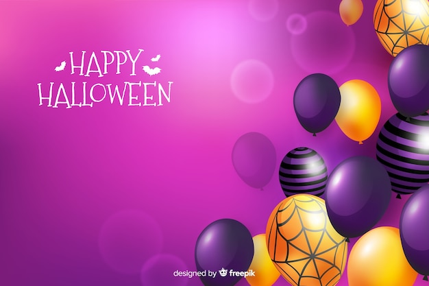 Realistic halloween sale offer background
