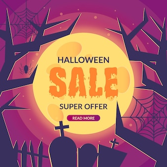 Реалистичная распродажа на хэллоуин