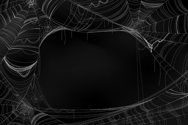 Realistic halloween spider web background
