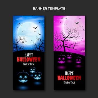 Set di banner verticali realistici di halloween