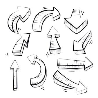 Accumulazione della freccia disegnata a mano realistica