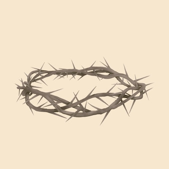 Realistic hand drawn crown of thorns