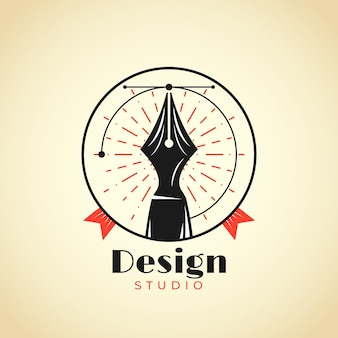 Realistic hand drawn graphic designer logo