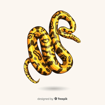 Realistic hand drawn snake background
