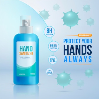 Realistic hand sanitizer ad