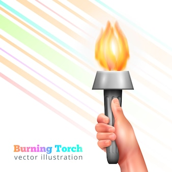 Realistic hand torch