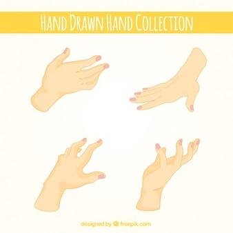 Realistic of hands set
