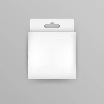 Realistic hang tab box Premium Vector