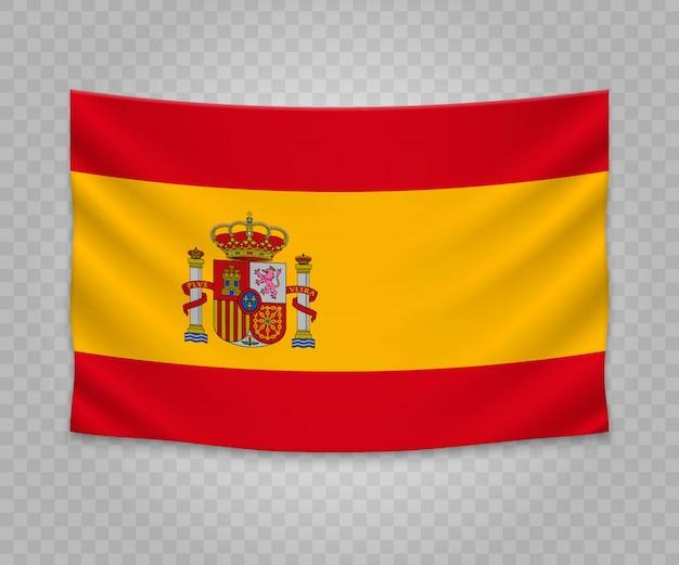 スペインのリアルなハンギングフラグ