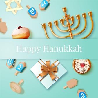 Sfondo realistico di hanukkah