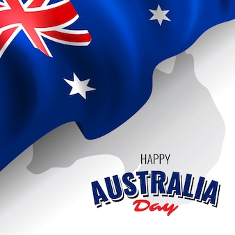 Realistic happy australia day