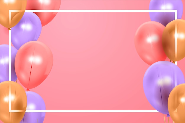 Realistic happy birtday background