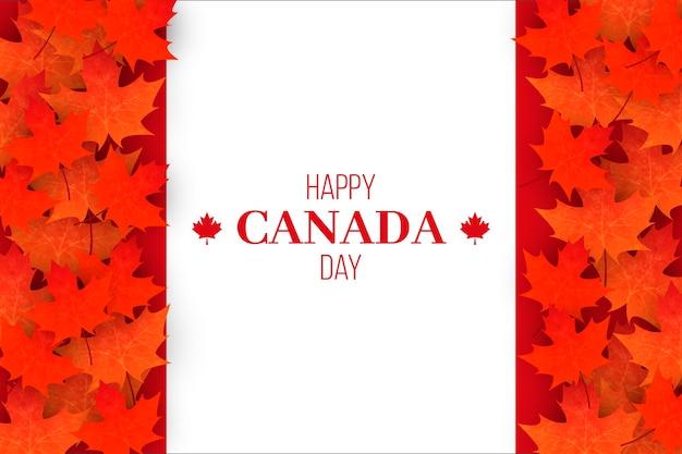 Realistic happy canada day event