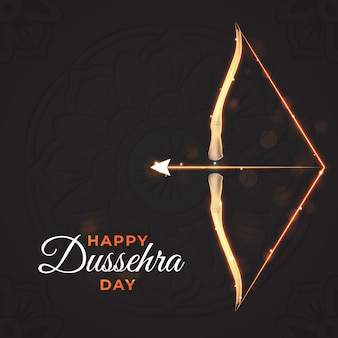 Realistic happy dussehra background