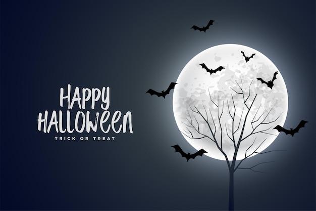 Sfondo realistico del diavolo di halloween felice