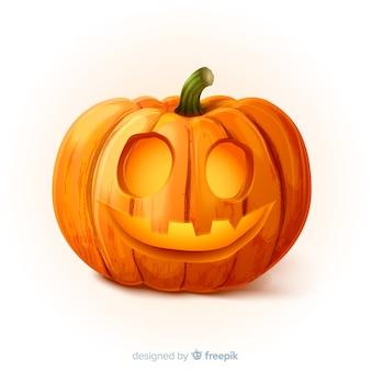 Realistic happy halloween pumpkin
