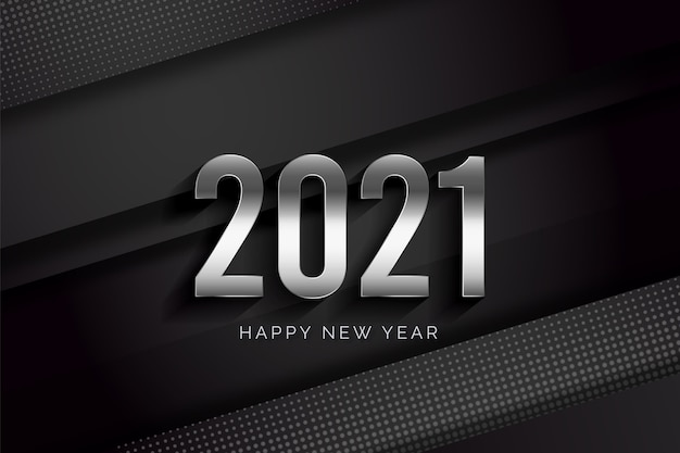 Realistic happy new year 2021