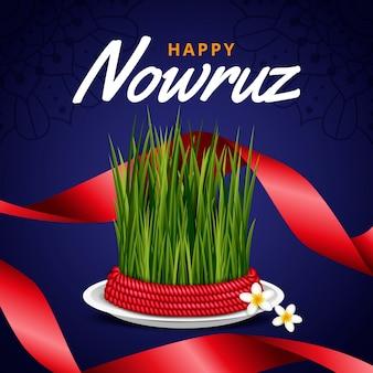 Realistic happy nowruz
