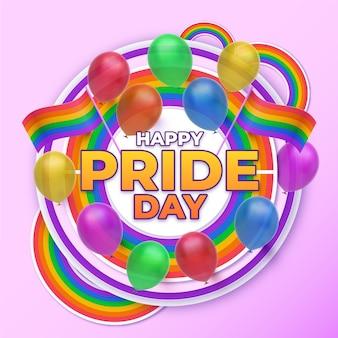Реалистичная иллюстрация счастливого дня гордости