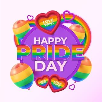 Illustrazione realistica del giorno dell'orgoglio felice