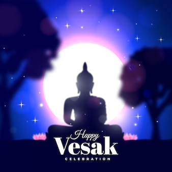 Realistic happy vesak