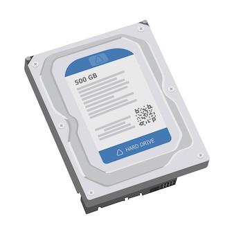 Realistic hard disc backup storage computer memory concept
