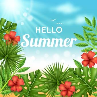 Realistic hello summer style
