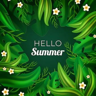Realistic hello summer